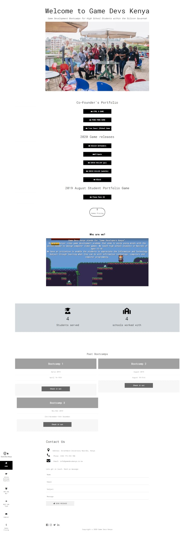 gamedevs kenya image full page screenshot view